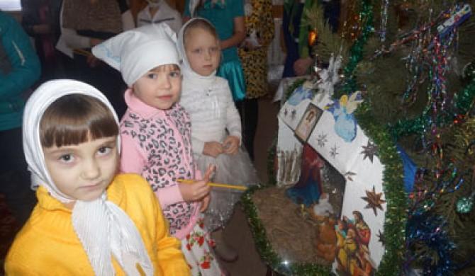 Рождество Христово в Казанской церкви с. Новичиха