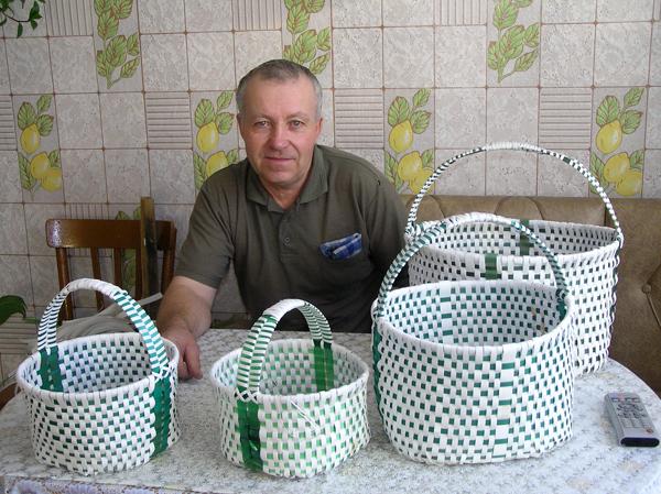 Плетение корзинок из ленты упаковочной