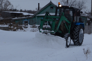На расчистке снега