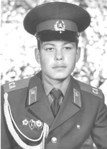 В. А. Желонкин во время службы в армии