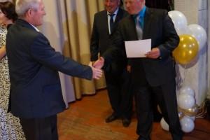 Благодарственным письмом администрации района награждается ветеран С. Ф. Трухин
