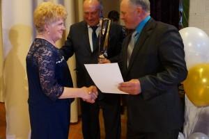 Благодарственным письмом администрации района награждается ветеран Л. А. Кузнецова