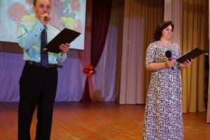 Ведущие праздника Алексей и Алена Горячих