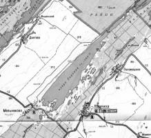 Карта озера Горькое
