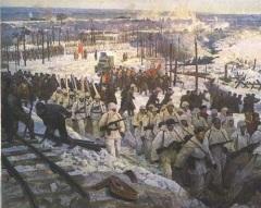Фрагмент диорамы «Прорыв Блокады Ленинграда»