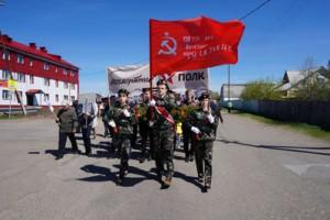 Прошли торжественным парадом по райцентру