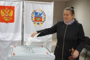 На избирательном участке в с. Новичиха