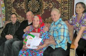 М. А. Королева в кругу родных