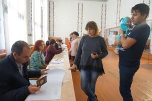 На избирательном участке в РДК