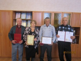 В. Н. Поломошнов, Н. И. Насибулина, В. Г. Поткин, А. И. Неверов (слева направо)
