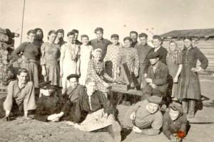 Бригада целинников. 1954 год