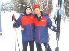 Краевые соревнования по лыжным гонкам с.Завьялово Кирилл Слонец Николай Макаренко